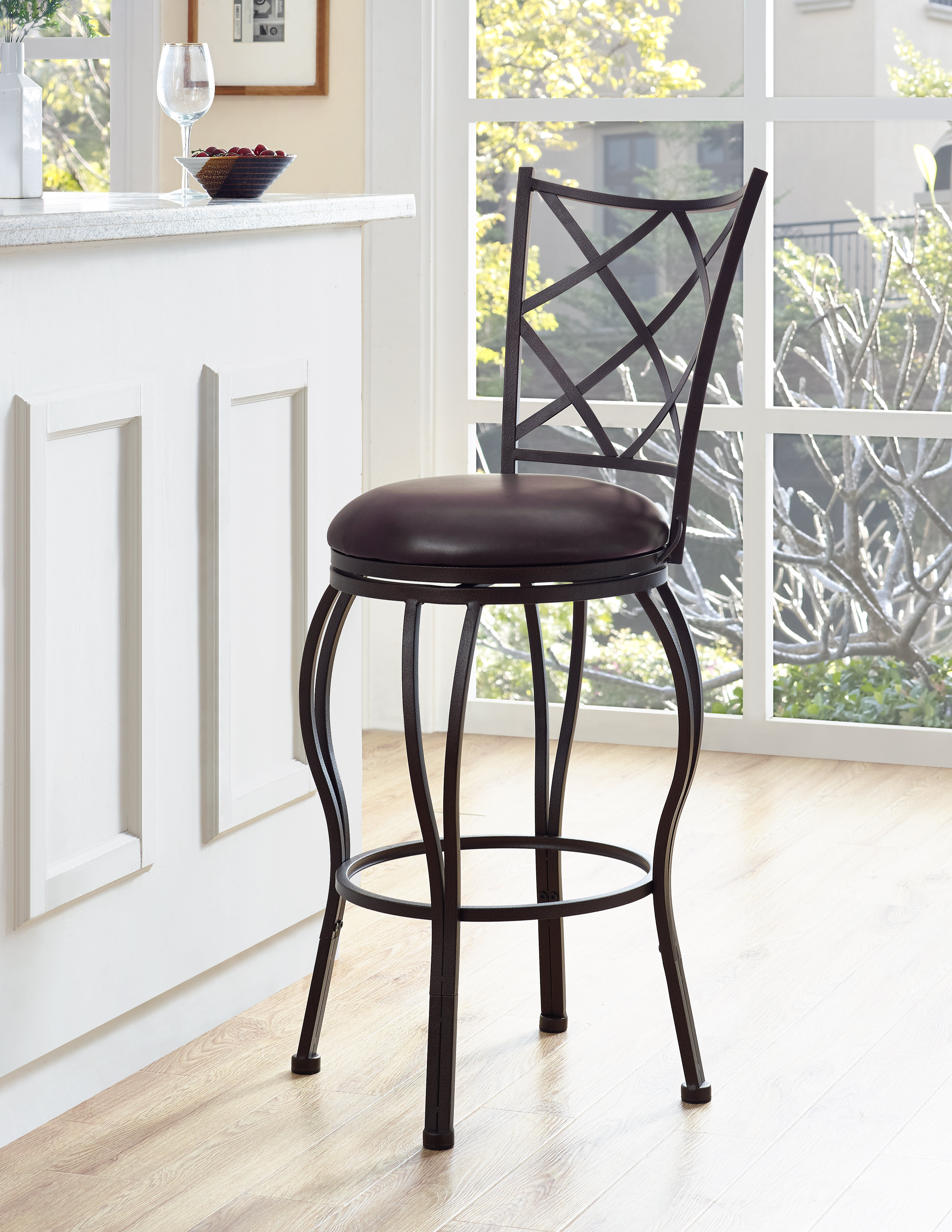 Phenomenal Soperton Diamond Lattice Adjustable Height Bar Stool Gmtry Best Dining Table And Chair Ideas Images Gmtryco