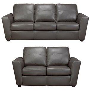 Coja Delta Leather 2 Piece Living Room Set