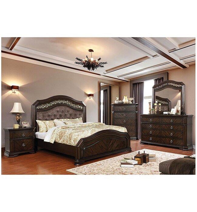 Bon Fleur De Lis Living Robert Upholstered Panel Configurable Bedroom Set |  Wayfair