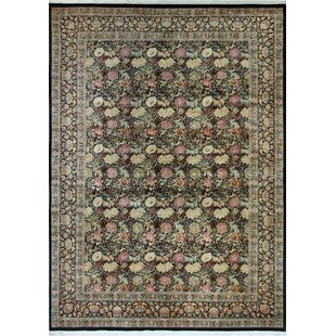 Comparison Rode Hand-Knotted Wool Black Area Rug By Astoria Grand