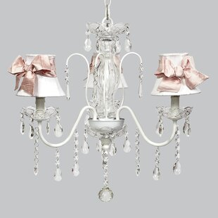 Jubilee Collection Jewel 3-Light Shaded Chandelier