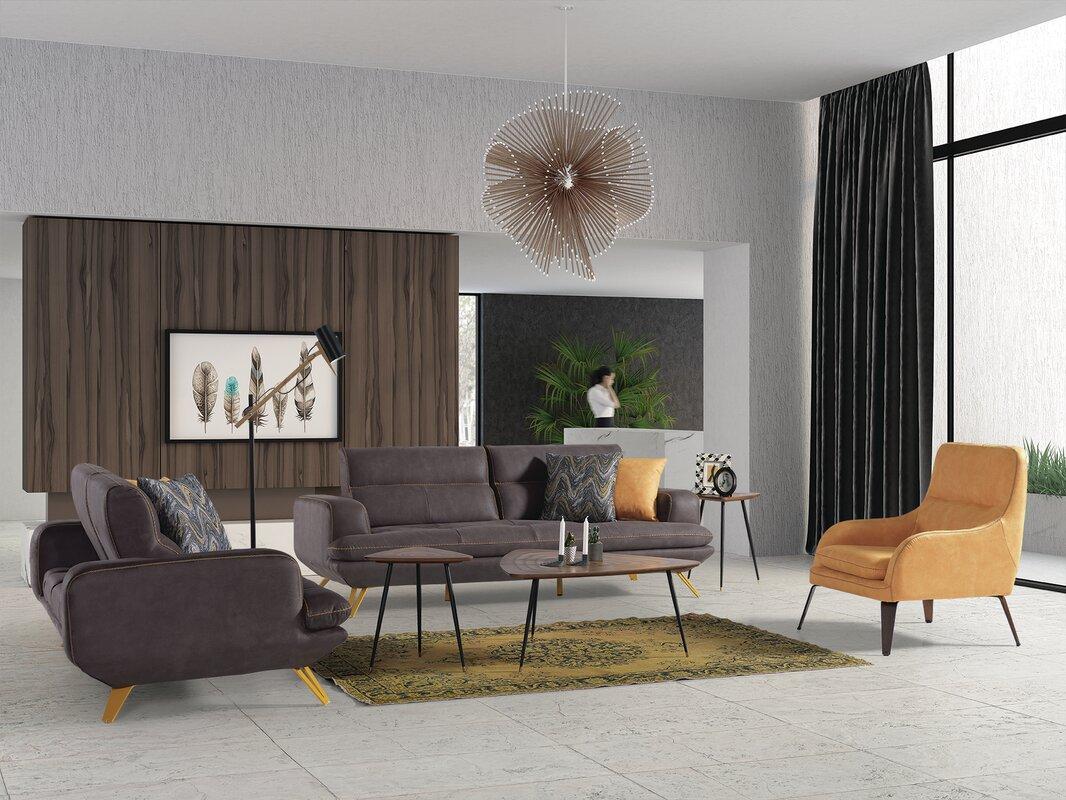 Orren Ellis Cockran 3 Piece Reclining Living Room Set