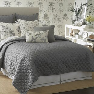 Sanderson Etching and Roses Single Coverlet
