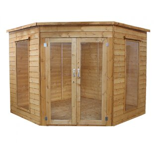 Saugus 8 X 8 Ft. Shiplap Corner Summer House By Sol 72 Outdoor