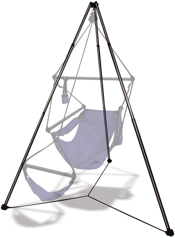 tripod hanging aluminum hammock chair stand hammaka tripod hanging aluminum hammock chair stand  u0026 reviews      rh   wayfair