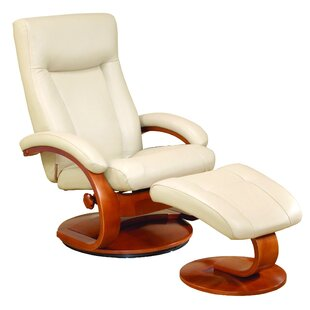 Shopping for Flathead Lake Leather Manual Swivel Recliner With Ottoman by Red Barrel Studio Reviews (2019) & Buyer's Guide