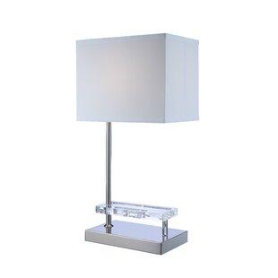 nightstand lamp with usb port usb powered aker 25 modern builtin usb port table lamps allmodern