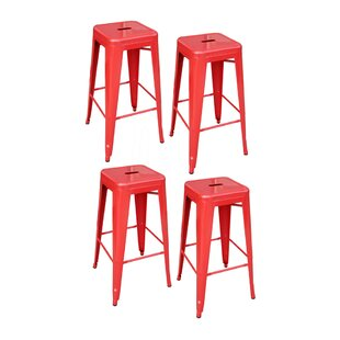 Theron Stackable Metal 30 Bar Stool (Set of 4) by Williston Forge