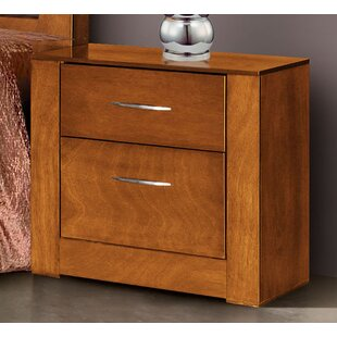 Reviews Lennards 2 Drawer Nightstand by Latitude Run