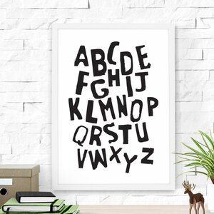 Alphabet Framed Art