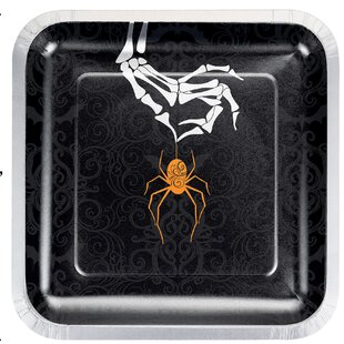 Halloween Spider Paper Dessert Plate (Set of 24)