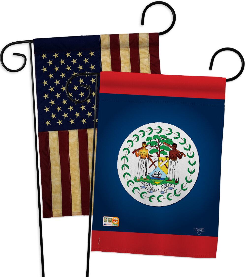 Breeze Decor Belize Impressions Decorative 2 Sided Polyester 19 X 13 In 2 Piece Garden Flag Set Wayfair