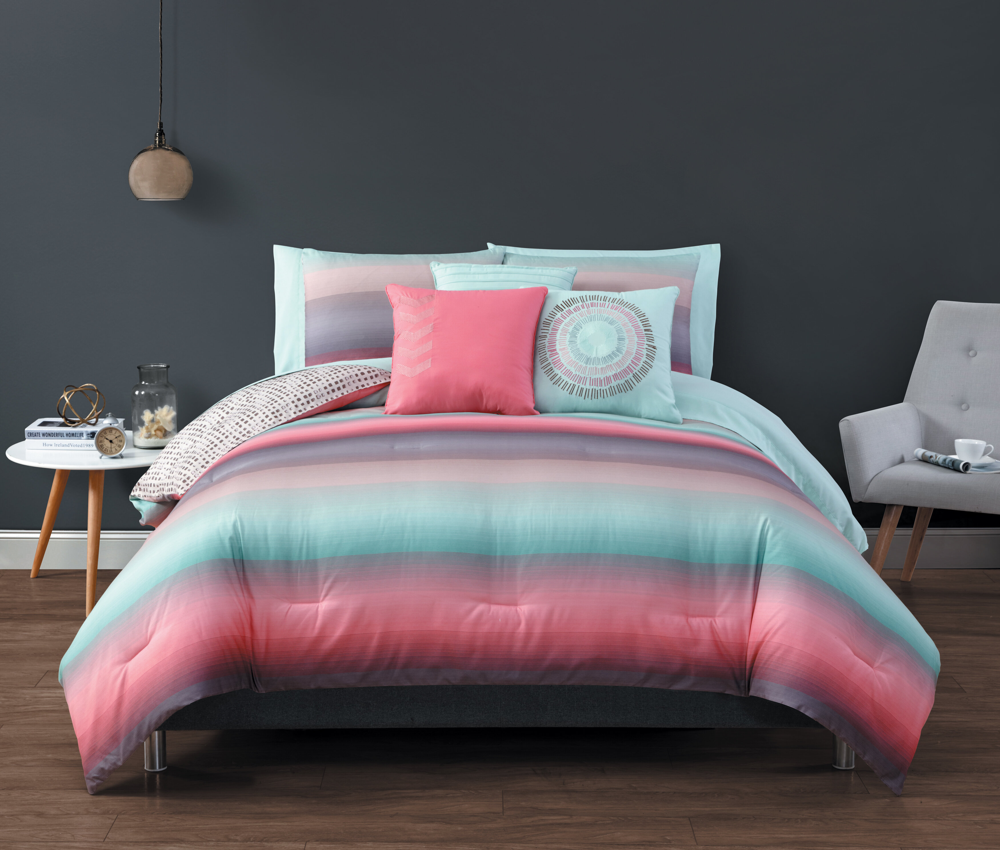 Dakota Fields Linolakes Reversible Comforter Set Reviews Wayfair
