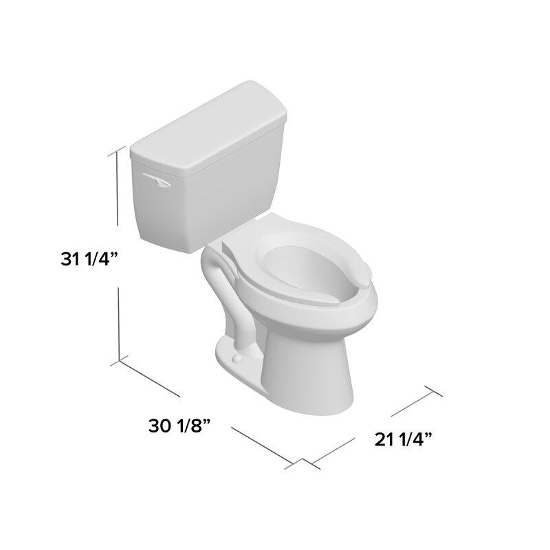 K 3493 0 96 Kohler Highline Classic Comfort Height Two Piece Elongated 1 6 Gpf Toilet With Pressure Lite Flush Technology And Left Hand Trip Lever Reviews Wayfair