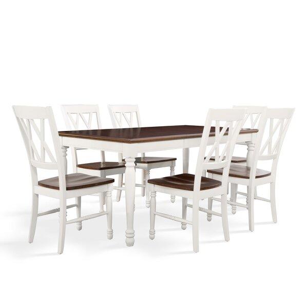 Beachcrest Home Tanner 7 Piece Dining Set U0026 Reviews | Wayfair