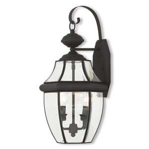 Gustavson 2-Light Outdoor Metal Wall Lantern