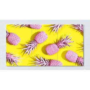 Pineapple Motif Magnetic Wall Mounted Cork Board By Ebern Designs