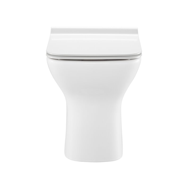 Carré Dual-Flush Elongated Back to Wall Toilet (Seat Included)