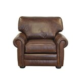 Fenway Studio 44 W Top Grain Leather Club Chair by Westland and Birch