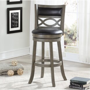 Delmer 29 Swivel Bar Stool Canora Grey