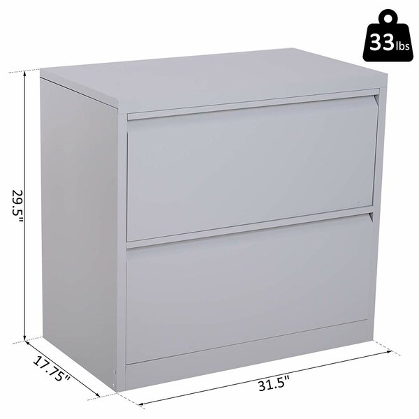 Symple Stuff Donita Metal 2 Drawer Lateral Filing Cabinet Reviews Wayfair