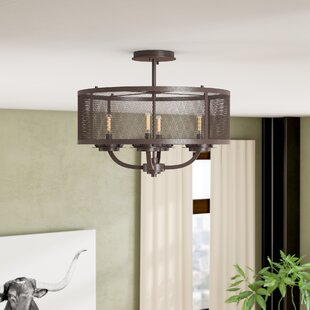 Sharo 4-Light Convertible Semi-Flush Mount by 17 Stories