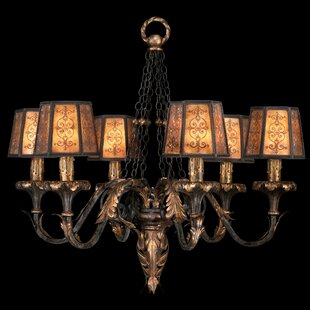 Fine Art Lamps Epicurean 6-Light Shaded Chandelier