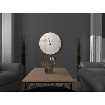 East Urban Home Oversized Useful Mettlesome Abstract Metal Wall Clock Wayfair