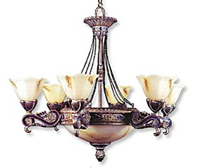 JB Hirsch Home Decor 6-Light Shaded Chandelier