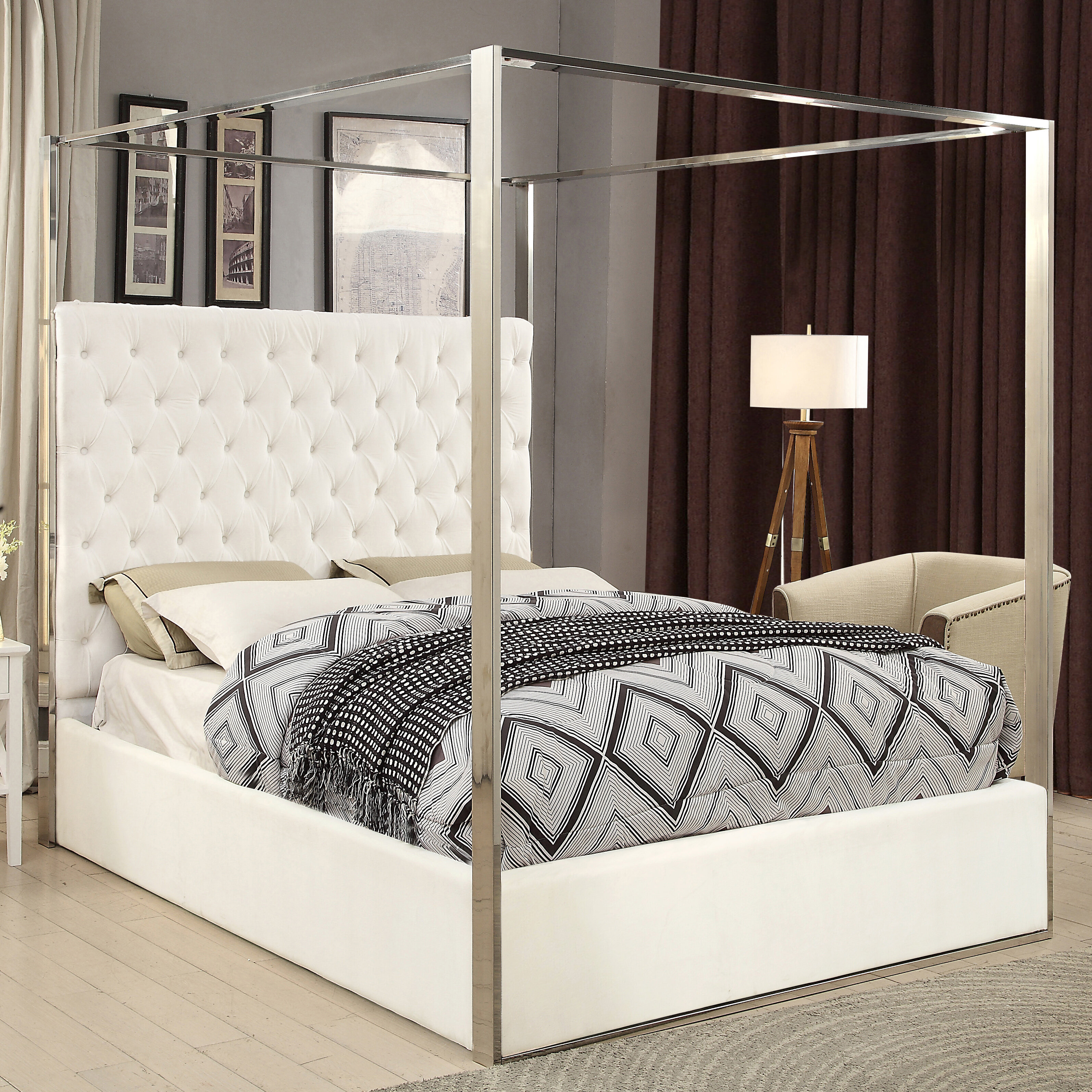 King Size White Canopy Beds You Ll Love In 2021 Wayfair