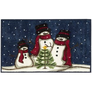 Price comparison Snowmen and Tree Blue/White Area Rug By The Holiday Aisle