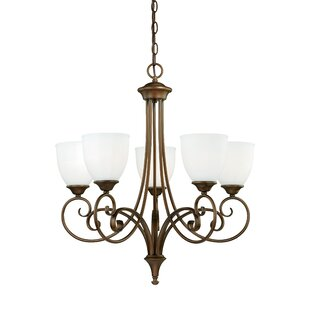 Fleur De Lis Living Bruder 5-Light Shaded Chandelier