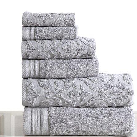 Montanez 6 Piece 100% Cotton Towel Set