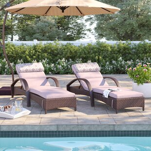 Cerralvo Reclining Chaise Lounge with Cushion (Set of 2)