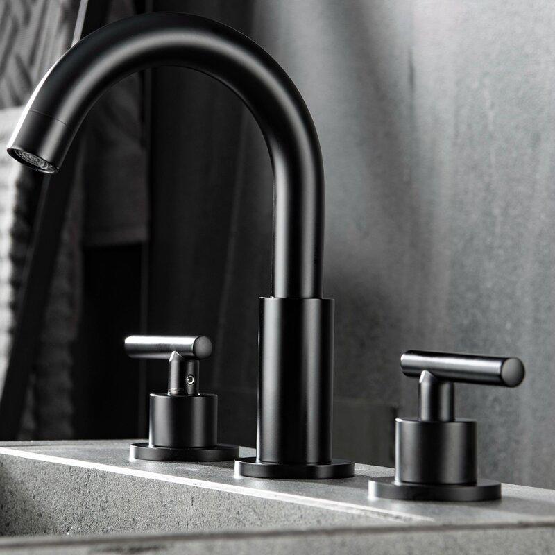 Matrix Decors Widespread Faucet Bathroom Faucet With Drain Assembly Wayfair