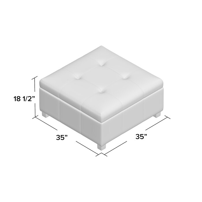 Swell Ernestine Storage Ottoman Gmtry Best Dining Table And Chair Ideas Images Gmtryco