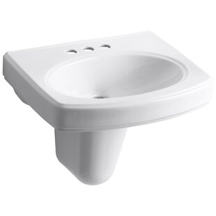 Find for Pinoir Ceramic 22 Wall Mount Bathroom Sink with Overflow By Kohler