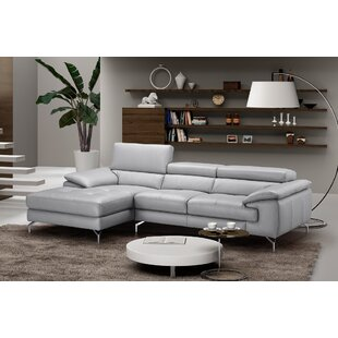 Orren Ellis Armiead Leather Sectional