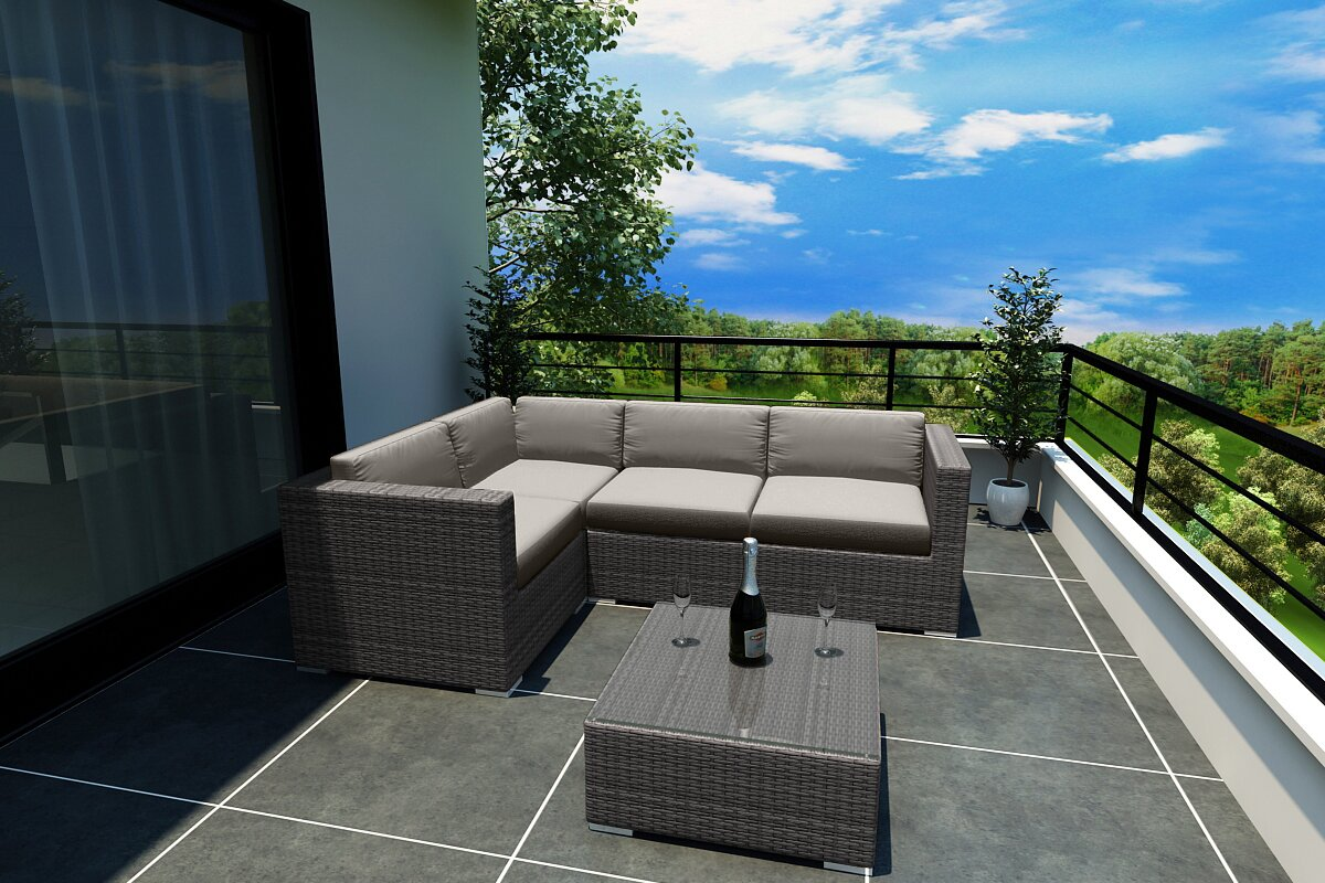 Rosecliff Heights Hobbs 5 Piece Sunbrella Sectional Set with Cushions