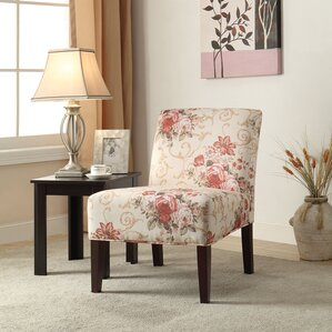 Riston Floral Slipper Chair by ACME Furniture