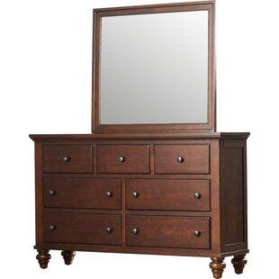 Verrett 7 Drawer Dresser with Mirror