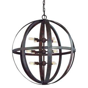 Petrina 12-Light Globe Pendant by 17 Stories