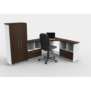 Latitude Run Lundquist 10 Piece L-Shape Desk Office Suite