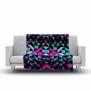 Check Prices Vasare Nar Geometric Galaxy Digital Fleece Blanket ByEast Urban Home
