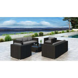 Glendale 5 Piece Sofa Set with Sunbrella Cushion