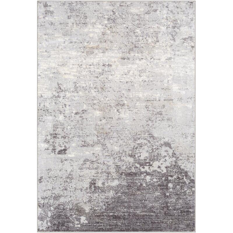Blue Elephant Rosson Power Loom Silver Grey White Rug Reviews Wayfair Co Uk