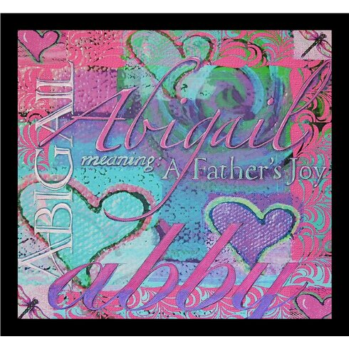Buy Art For Less \'Abigail Abby Meaning a Father\'s Joy Hearts\' Framed ...