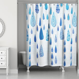 Begaye Rain Drops Single Shower Curtain