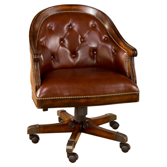 brown leather office chair from noir furniture
