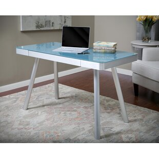 Latitude Run Callaghan Glass Writing Desk